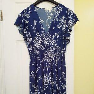 Jon & Anna Flutter Sleeve Maxi Dress